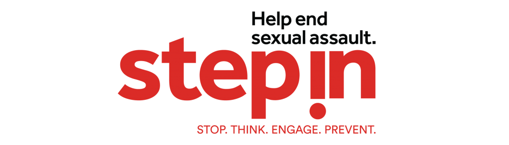 Logo for StepIn to stop think engage and prevent Sexual assault